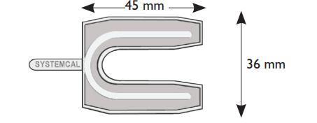 Cale fourchette 720 PRUNIER SAS - Neutre - 36x45 mm pour vis de Ø10 mm - Boite 800 - SCJP720