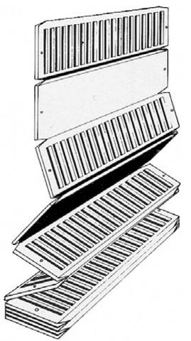 Cale réglette 751 PRUNIER SAS - Neutre - 20x50 mm - Boite 1000 - SCJP751