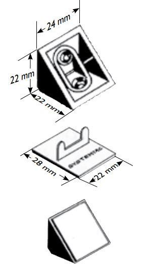 Taquet + Couvercle 01C marron PRUNIER - STMS01C