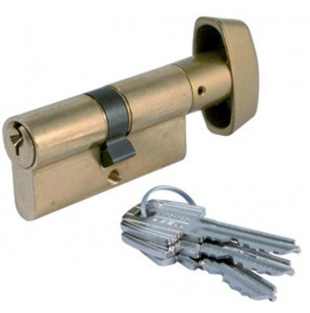 Cylindre à bouton laiton TE5 TESA 60mm - 30x30mm - 503B3030L