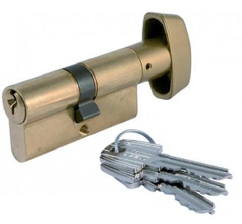 Cylindre à bouton laiton TE5 TESA 80mm - 40x40mm - 503B4040L