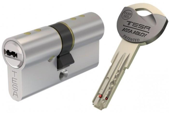 Cylindre TESA TX80 - 40x30mm - 5 clés - TX853040N