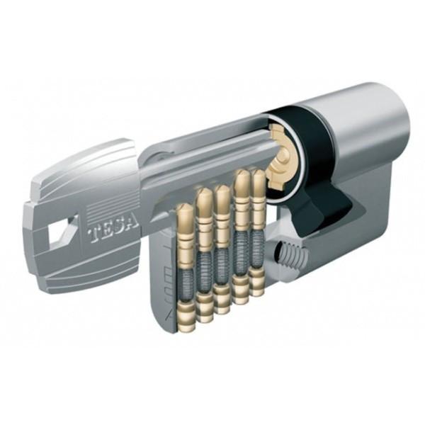 Cylindre TESA TE5 - 40x40mm - nickelé - vis de 40mm - 50304040NY