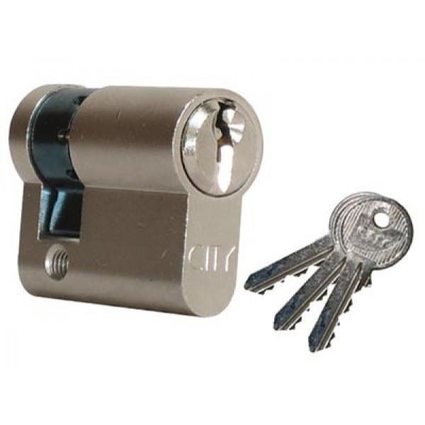 Demi-cylindre City ISEO 30x10mm laiton nickelé - varié V03 KCF005503 - 520930129V03