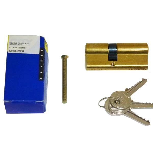 Cylindre City ISEO 30x40mm laiton poli - varié V04 KCF005504 - 520930427V04