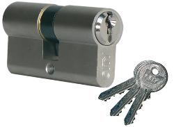 Cylindre City ISEO 30x30mm laiton nickelé - variure V05 KCF001921 - 520930329V05