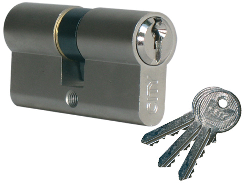 Cylindre City ISEO 30x50mm laiton poli - variure V05 KCF001921 - 520930429V05