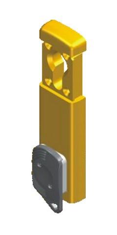 Protecteur magnétique MIDI SARL pour cylilndre rond - Ø37mm - chromé satiné- 3 clés - 31MG410FOT