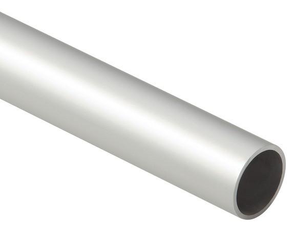 Tube rond alu anodisé argent Ø16 mm - ép.1.5 mm - 3ml