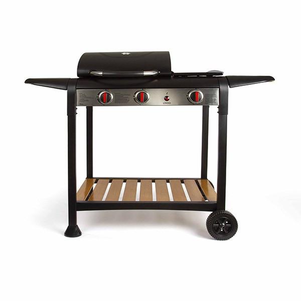 Barbecue gaz grill et plancha 133x57x98 cm - DOC208