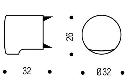 Bouton heaume Ø 32 VACHETTE - Blanc - 81913