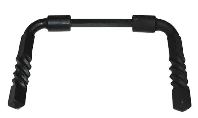 Béquille double 1171 alu noir torsadé DUVAL BILCOCQ Carré 6 et 7 mm serrage 30-85mm - 37-0108-2611