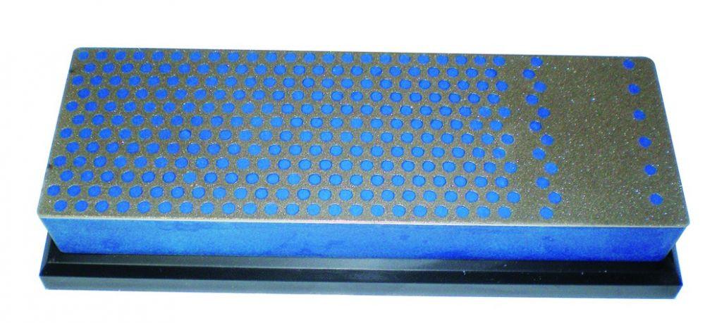 Pierre de poche diamantée pour affûtage VIRUTEX - 110 x 23 x 5 mm - Moyen bleu - FWC