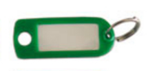 Porte-clé plastique WILMART - Vert - 14606
