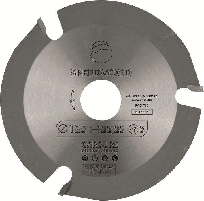 Disque au carbure SPEEDWOOD125  - Ø 125 mm - SPEED.WOOD125.