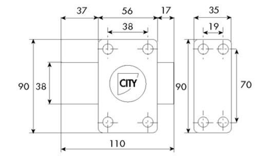 Verrou de sûreté ISEO City art 25 - sans cylindre - 10020001