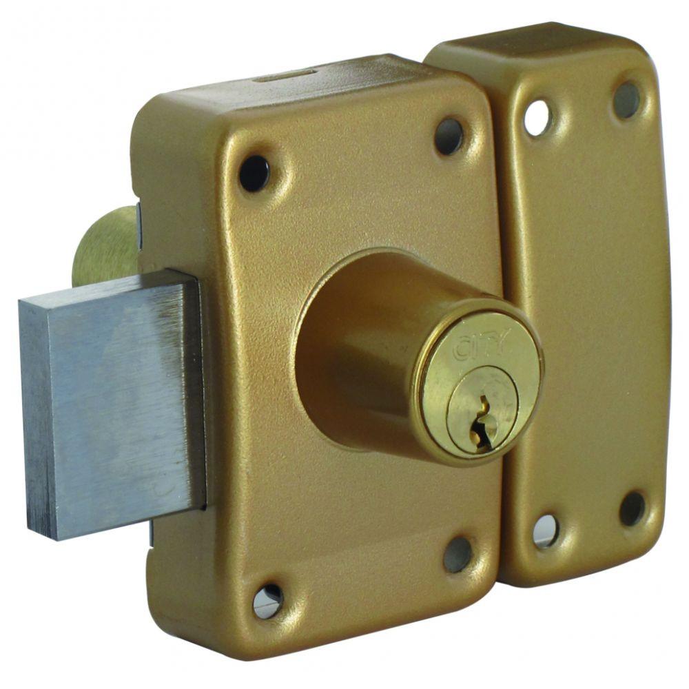 Verrou ISEO City 26 double cylindre - Cylindre 30 mm - Sur variure MV 03 - 10022301.5V03