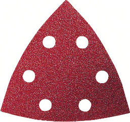 Pack de 50 feuilles abrasives triangulaires BOSCH - 93x93 mm - P100 - 2608607881