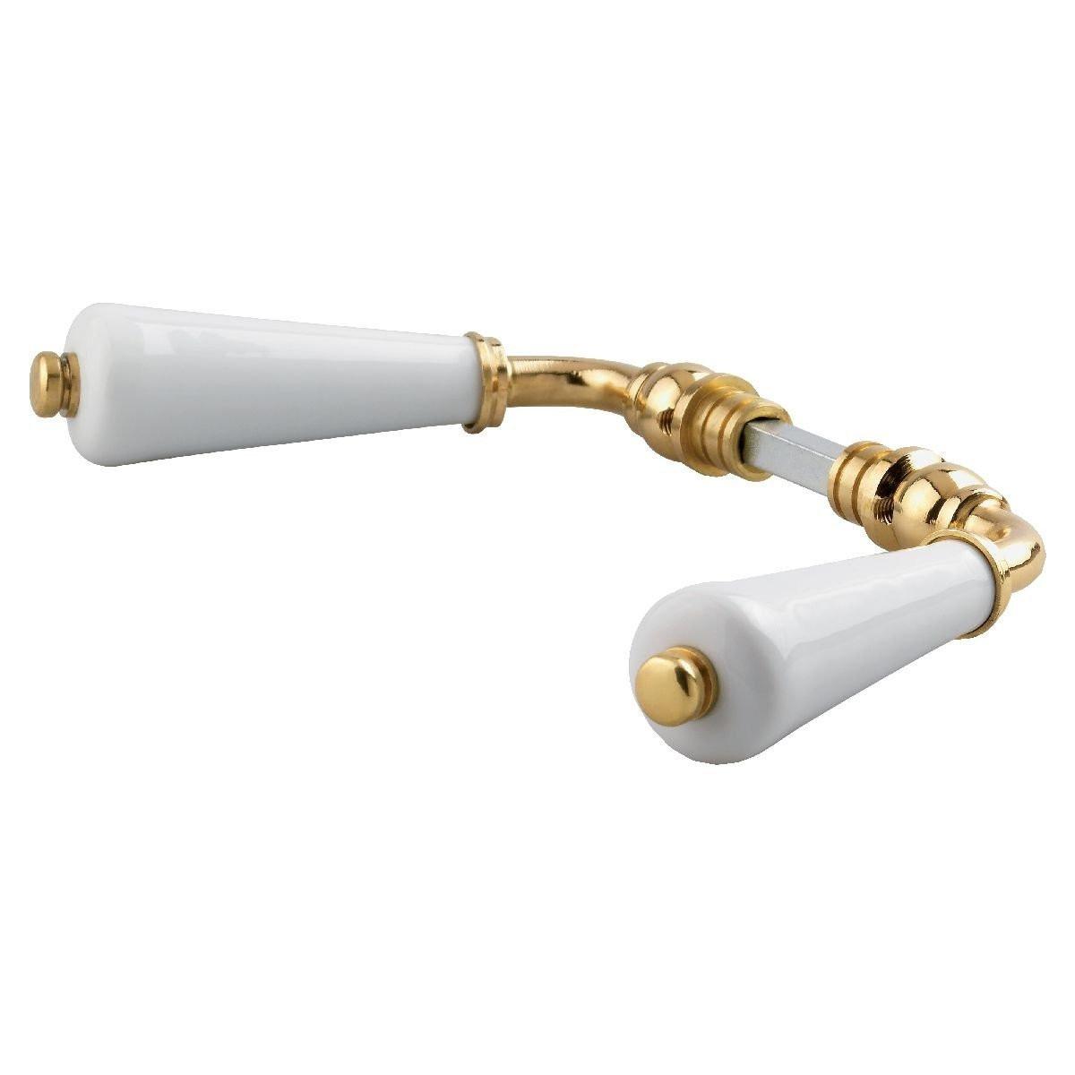 Béquille porcelaine double canon BRIONNE C7x77 - Blanc - 000.2047.01PN