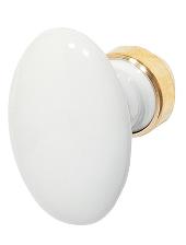Bouton porcelaine double ovale BRIONNE C6x90 - Blanc - 000.1526.01PN