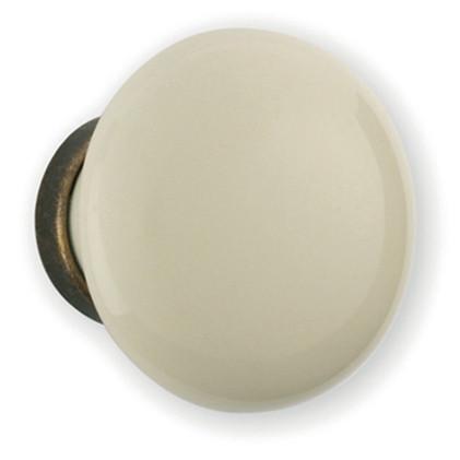 Bouton porcelaine blanc Ø 25 mm