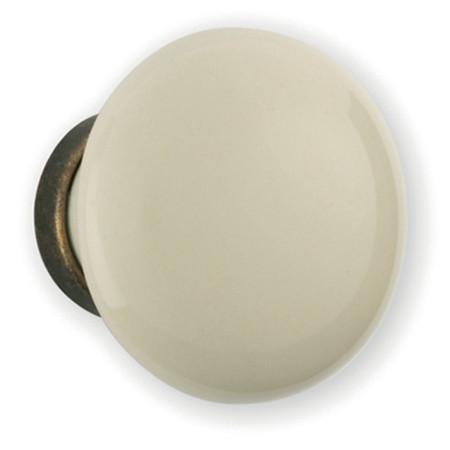 Bouton porcelaine blanc Ø 30 mm