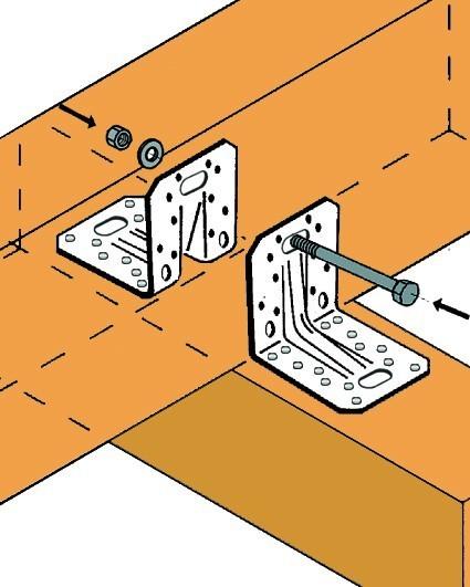 equerre renforc e simpson 166009 equerre et sabot de charpente fixation. Black Bedroom Furniture Sets. Home Design Ideas