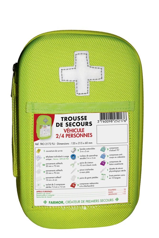 Trousse de secours FARMOR Véhicules - Haute visibilité - TRO 2172 FLJ