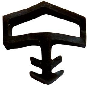 Joint pour portes intérieures KISO - rainure 4mm - 75M - M 0680 Noir