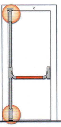 Serrure anti-panique Panama FAPIM - 2 points - barre 1130mm - FAP0001
