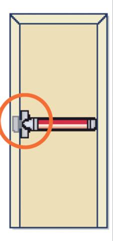 Fermeture anti-panique Panama Push FAPIM - 1 point - barre 935mm - FAP0001