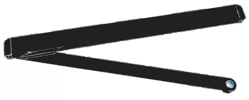 Bras à coulisse pour TS 71/ 72/ 73/ 83 DORMA - Noir - 22002619