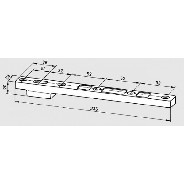 Axe rectangulaire 7421 DORMA - Bras bas double action - 4610001