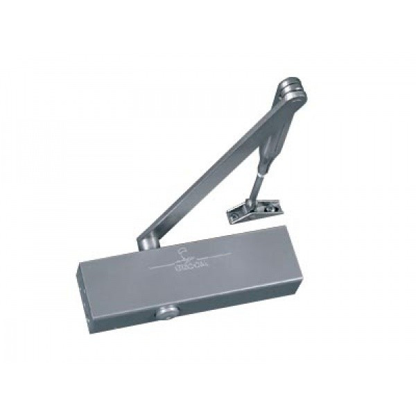 Ferme-porte GR200 bras standard argent GROOM - Force 2/4 - frein à l'ouverture CE EN1154 - GR200111