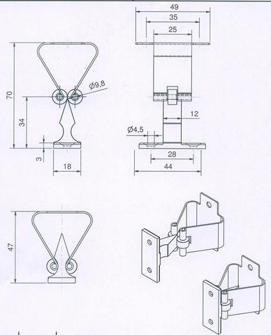 Arrêt à pince cataphorèse noir 1301TN MANTION SA - Mentonnet à visser - Série courante - 1301TN