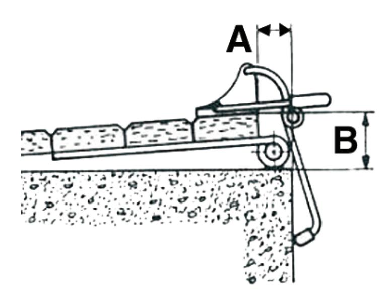 Arrêt bloc volet contre-plaque bras standard MONIN Noir - 152160