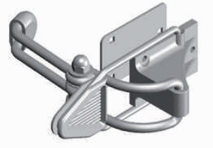 Arrêt bloc volet contre-plaque bras allongé MONIN Blanc - 152100