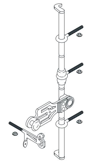 Sachet accessoires tringle de croisée BR TORBEL - 0560S10