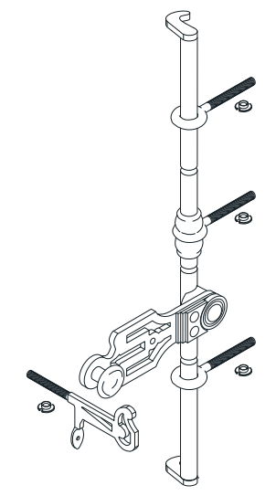 Tringle de croisée 2500 mm TORBEL - Crochet 55 mm - 0555250