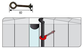 Lacet écrou TORBEL pour espagnolette cataphorèse - 745603