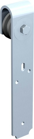 Monture galet Zytel fixation à plat 0017 MANTION SA - Fer 40x6 mm - Capacité porte 80Kg - 0017