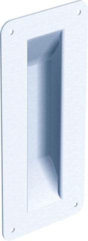 Poignée cuvette tôle emboutie 1290 MANTION SA - H.200 mm - Larg.90 mm - 1290
