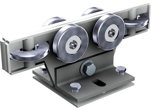 Monture 9968S avec galets acier pour rail 9060 MANTION - 9968S