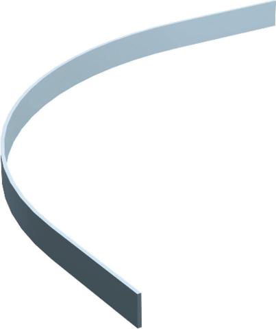 Courbe en fer plat 1751 50x6mm MANTION - 1751