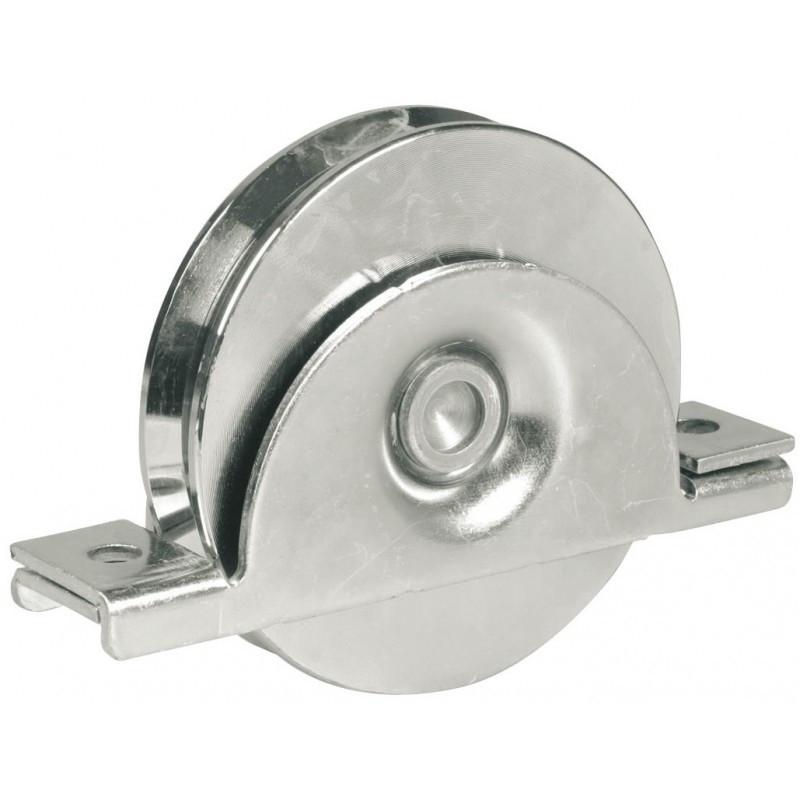 Roue à gorge ronde AVL Ø100 mm support à encastrer - Charge 300 kg - 918100A