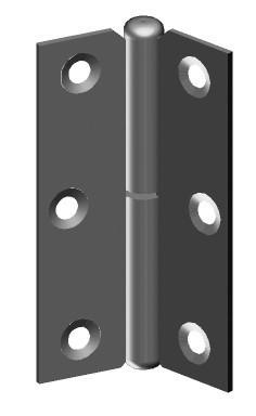 Charnière à dégonder à noeud roulé MONIN - gauche - 70 x 45 mm - 433 270