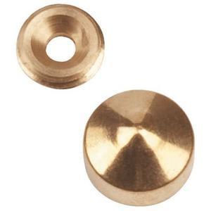 Cache pour vis 4 à 5 mm QDRC - laiton chromé - Ø 46 x 8 x 5.1 mm - 9038D16S03