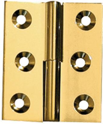 Paumelle laiton poli 40x50 droite