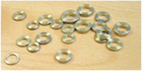 Bague en laiton pour paumelle 160 QDRC - 7 x 13.2 x 2 mm - BPO004S00E