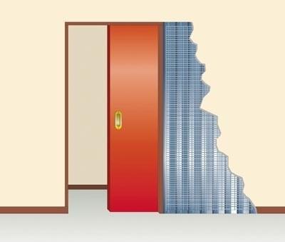 kit ch ssis de porte galandage fibrotubi 320100 ferrure de porte coulissante galandage. Black Bedroom Furniture Sets. Home Design Ideas